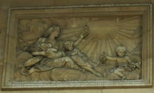Maria Magdalene mit ihren Kindern - Gralstafel