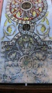 ornamente symbole kirche in rennes-le-chateau