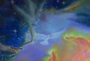 Gemälde (Ausschnitt) Signatur Hera / Jupiter